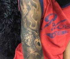 Koi Airbrush Tattoo