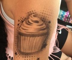 Cupcake Airbrush Tattoo