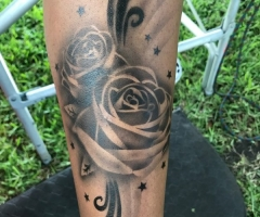 Rose Tattoo Airbrush Tattoo