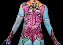 Ganesha Body Paint Design
