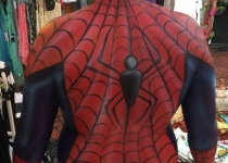 Spiderman Body Painting