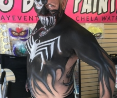 Venom Body Paint Design