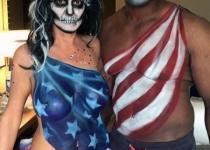 American Flag Couple