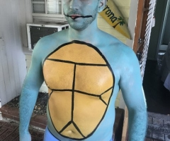 Pokemon Squirtle Body Paint