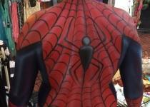 Spiderman Body Painting