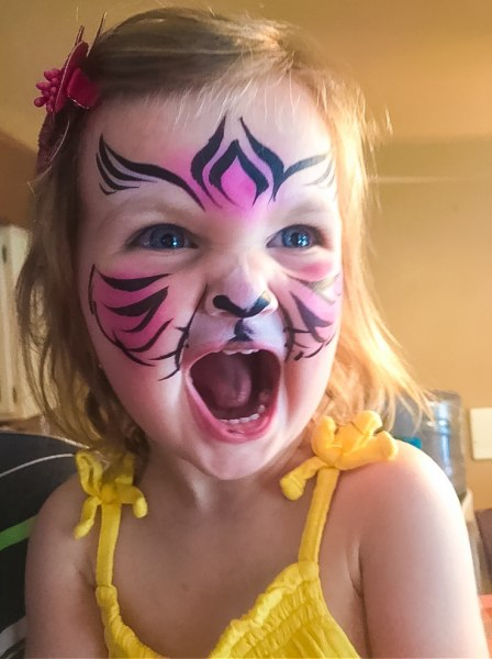 cheetah face painting design