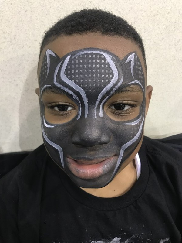 Easy Panther Face Paint