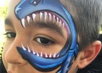Shark Eye Face Paint Design