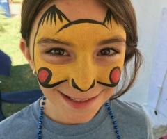 Pikachu Face Paint Design