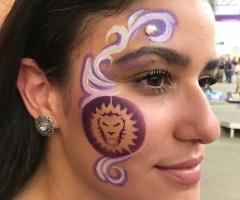 Orlando City Soccer Face Painting Design