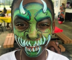 Monster Face Paint Design
