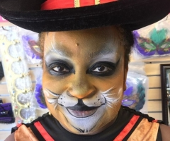 Pussinboots Face Painting Design