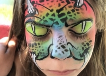 Rainbow Monster Face Paint Design