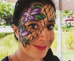 Flower Face Painting Design