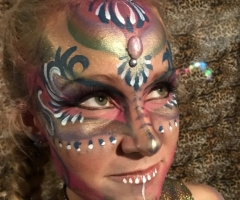 Adult Festival Face Paint Design