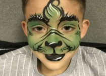 The Grinch Face Paint Design