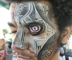Cyborg Face Paint Design