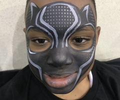 Black Panther Face Paint Design