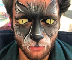 Wolf Man Face Paint Design