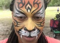 Tiger Design with Tribal Stripes