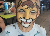 Lion King Face Paint Design