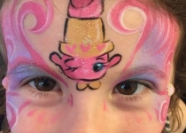 LIPPY Lips Pink Shopkins face paint design