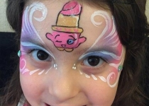 LIPPY Lips Shopkins Face Paint Design