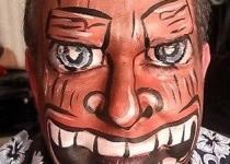 Tiki Man Face Paint Design