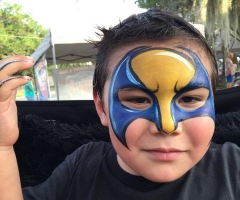 Wolverine, super hero face painting design