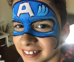 captin america face painting design