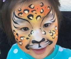 Cheetah Face Paint Design