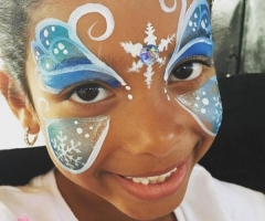 Frozen Butterfly Face Painting Design