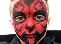 darth maul face paint design