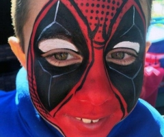deadpool face paint design