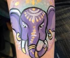 elephant face paint design