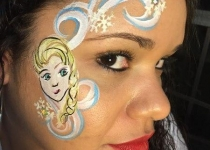 Elsa Frozen Face Paint Design