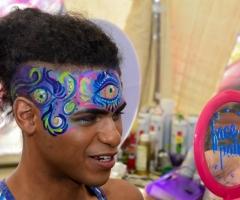 Third Eye Face Paint Design