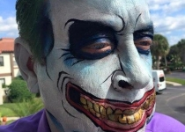 Joker Face Paint Design