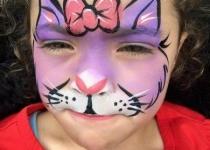 Cat face paint design