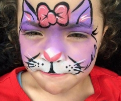 Cat face paint design