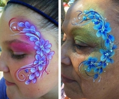 flower eye design face paint