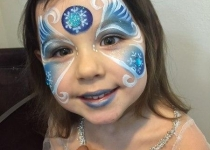 frozen face painting design