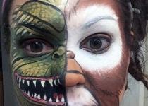 gremlin / mogwai face paint design