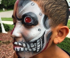 The Terminator Face Painting Design