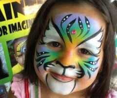 Colorful Tiger Face paint design