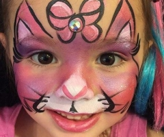Kitty Face Paint Design Orlando
