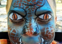 monster face painting design