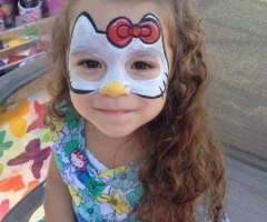 Hello Kitty Orlando Florida Face Painter