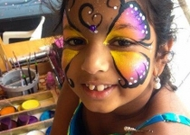 Colorful Butterfly Face Paint Desing