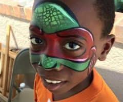 ninja turtle Face painting design